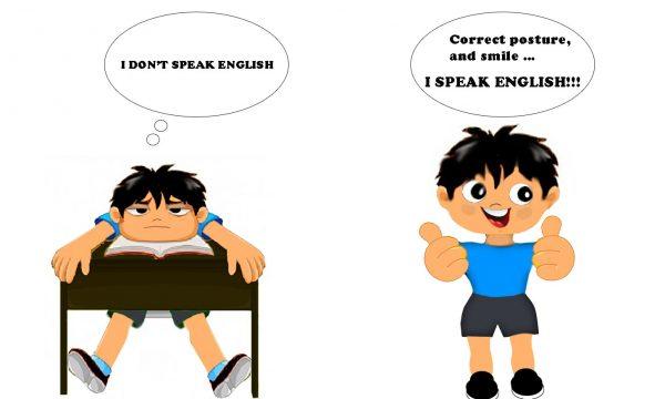 Una buona postura per imparare l'inglese